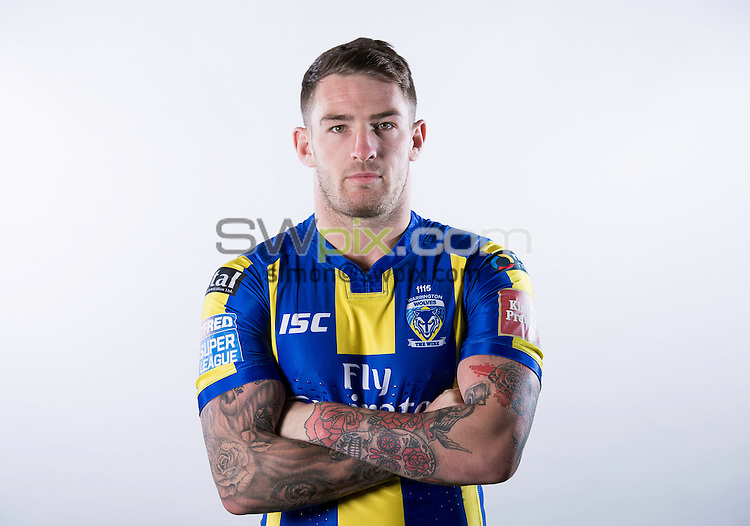 Picture by Allan McKenzie/SWpix.com - 30/01/17 - Rugby League - BetFred Super League - Warrington Wolves Media Day 2017, The University of Chester, Warrington, England - Daryl Clark.