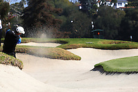 02/16/14 Pacific Palisades, CA: Jason Allred during the final round of the Northern Trust Open held at the Riviera Country Club.