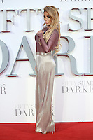 "Katie Price<br /> at the ""Fifty Shades Darker"" premiere, Odeon Leicester Square, London.<br /> <br /> <br /> ©Ash Knotek  D3223  09/02/2017"