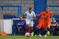 Lukas Nmecha (Manchester City) of England U19 in action during the International match between England U19 and Netherlands U19 at New Bucks Head, Telford, England on 1 September 2016. Photo by Andy Rowland.