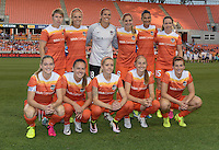 Team Photo of the Houston Dash shot prior to their game with the Orlando Pride on Friday, May 20, 2016 at BBVA Compass Stadium in Houston Texas. The Orlando Pride defeated the Houston Dash 1-0.