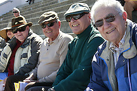 "Isaias Luz, Manny Gomez, John Zolezzi and Bill ""Howard"" Mayfield from the 1953 CIF champion PLHS football team attend a Memorial service held for Coach Bennie Eden at the Point Loma High School Football stadium that was recently renamed in his honor, Saturday February 23 2008."