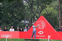 Thorbjorn Olesen (DEN) on the 3rd tee during the 1st round at the WGC HSBC Champions 2018, Sheshan Golf Club, Shanghai, China. 25/10/2018.<br /> Picture Fran Caffrey / Golffile.ie<br /> <br /> All photo usage must carry mandatory copyright credit (&copy; Golffile | Fran Caffrey)