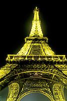 Eiffel Tower, Paris, France, Europe, towering, evening, illuminated