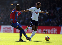 Christian Benteke of Crystal Palace and Mousa Dembele of Tottenham Hotspur during Crystal Palace vs Tottenham Hotspur, Premier League Football at Selhurst Park on 25th February 2018