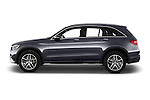 Car Driver side profile view of a 2016 Mercedes Benz GLC Launch Edition 5 Door Suv Side View