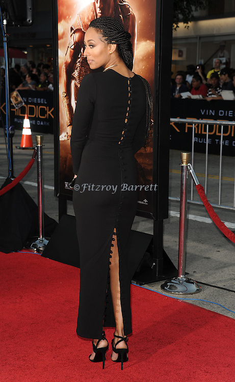 Keri Lynn Hilson at the RIDDICK World Premiere, held at the Regency Village Theater Los Angeles, Ca. August 28, 2013