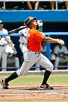 May 31, 2009:  NCAA Division 1 Gainesville Regional:    Miami CF Nathan Melendres (10) during 2nd round regional action at Alfred A. McKethan Stadium on the campus of University of Florida in Gainesville.  Miami Hurricanes eliminated Jacksonville 4-0 and will advance to the finals against Florida............