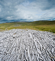 Limestone rock formations, Black mountain, Brecon Beacons national park, Wales