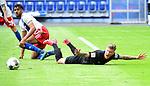 Foul zum Elfmeter v.l. Josha Vagnoman (HSV), Philip Tuerpitz<br />Hamburg, 28.06.2020, Fussball 2. Bundesliga, Hamburger SV - SV Sandhausen