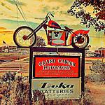 Vintage americana motorbike
