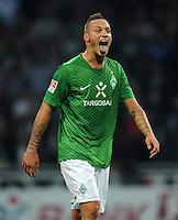 FUSSBALL   1. BUNDESLIGA   SAISON 2011/2012    7. SPIELTAG SV Werder Bremen - Hertha BSC Berlin                   25.09.2011 Marko ARNAUTOVIC (Werder) jubelt nach dem Abpfiff