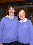 Imelda Toole welcoming the new lady captain Vivienne Meade at Ardee Golf Club. Photo:Colin Bell/pressphotos.ie