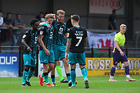 Nathan Dyer of Swansea City celebrates scoring his side's third goal during the pre season friendly match between Exeter City and Swansea City at St James Park in Exeter, England, UK. Saturday, 20 July 2019