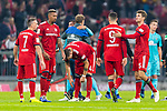 03.11.2018, Allianz Arena, Muenchen, GER, 1.FBL,  FC Bayern Muenchen vs. SC Freiburg, DFL regulations prohibit any use of photographs as image sequences and/or quasi-video, im Bild enttaeuscht Franck Ribery (FCB #7) Jerome Boateng (FCB #17) Niklas Suele (FCB #4) Robert Lewandowski (FCB #9) Thomas Müller (FCB #25) <br /> <br />  Foto © nordphoto / Straubmeier