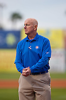 Daytona Cubs trainer  Pete Fagan before tje opening  game against the Brevard County Manatees at Jackie Robinson Ballpark on April 6, 2012 in Daytona Beach, Florida. (Scott Jontes / Four Seam Images)