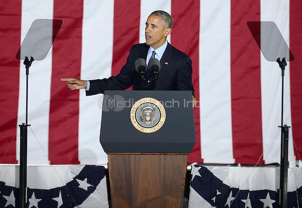 PHILADELPHIA, PA - NOVEMBER 7: President Barack Obama at the GOTV Rally in support of Hillary Clinton for President at Independence Mall in Philadelphia, Pennsylvania on November 7, 2016. Credit: Dennis Van Tine/MediaPunch