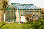 Garden greenhouse, Cherhill, Wiltshire, England, UK