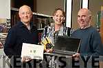 Scartaglin Handed Down Sliabh Luachra Archive which was presented to Kerry County Library on Wednesday last, l-r: Mike Lynch (Archivist), Kate Kennelly (Creative Ireland ) and PJ Teahan (World Fiddle Day representative).