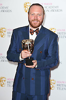 Leigh Francis<br /> in the winners room at the 2016 BAFTA TV Awards, Royal Festival Hall, London<br /> <br /> <br /> &copy;Ash Knotek  D3115 8/05/2016