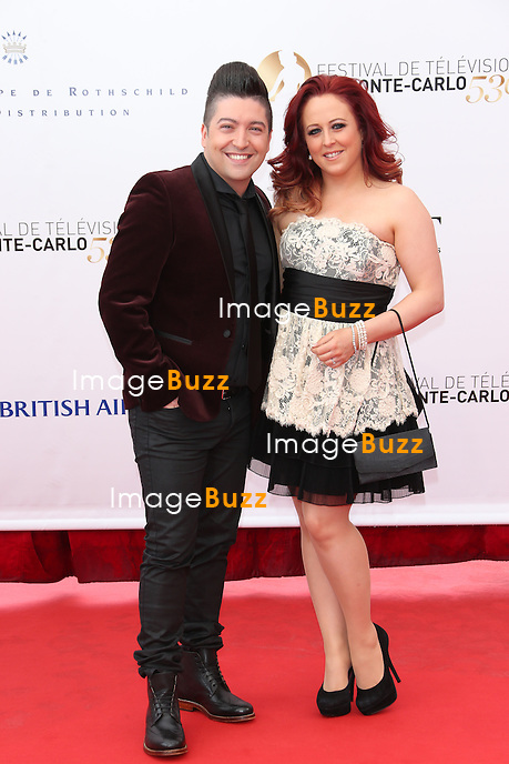 CPE/Chris Marques and wife attend the opening ceremony of the 53rd Monte Carlo TV Festival on June 9, 2013 in Monte-Carlo, Monaco
