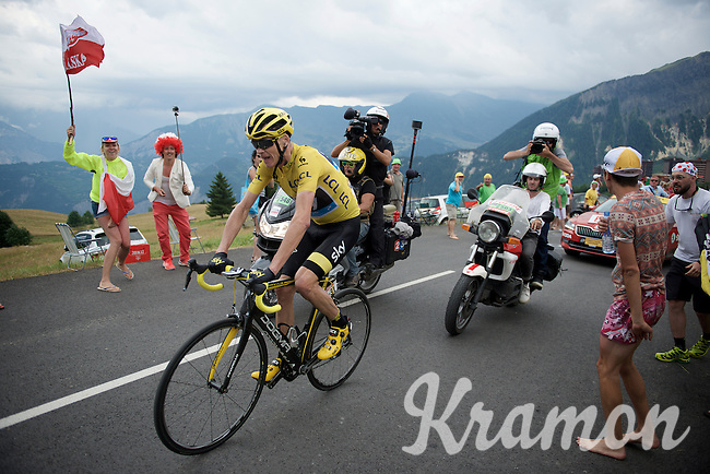 Yellow jersey Chris Froome (GBR/SKY) is attacked by 2 serious overall competitors so he has to limit the time loss Nairo Quintana (COL/Movistar) & Vincenzo Nibali (ITA/Astana) are putting into him by riding himself after them on the finishing climb towards La Tousuire (C1/1705m/18km@6.1%). <br /> <br /> stage 19: St-Jean-de-Maurienne - La Toussuire / Les Sybelles   (138km)<br /> Tour de France 2015