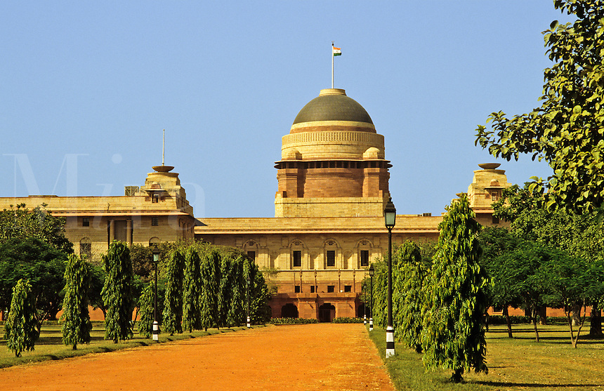 India. New Delhi. Rashtrapati Bhavan, formerly the Viceroy's House now the residence of the Indian President.  Part of Lutyens' Imperial City.