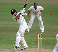 Sean Dickson bats for Kent during the County Championship Division 2 game between Kent and Leicestershire (Day 2) at the St Lawrence ground, Canterbury, on Mon July 23, 2018