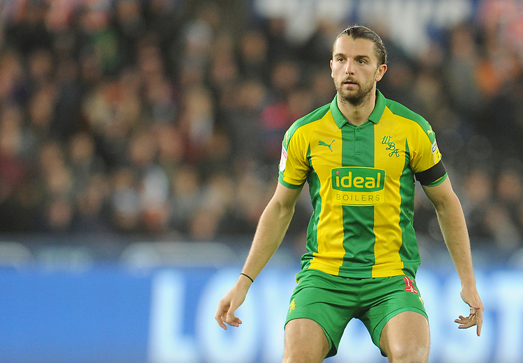 West Bromwich Albion's Jay Rodriguez<br /> <br /> Photographer Kevin Barnes/CameraSport<br /> <br /> The EFL Sky Bet Championship - Swansea City v West Bromwich Albion - Wednesday 28th November 2018 - Liberty Stadium - Swansea<br /> <br /> World Copyright &copy; 2018 CameraSport. All rights reserved. 43 Linden Ave. Countesthorpe. Leicester. England. LE8 5PG - Tel: +44 (0) 116 277 4147 - admin@camerasport.com - www.camerasport.com