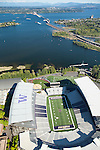 aerial photo of the University of Washington's Husky Stadium