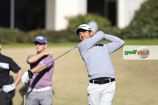 Xander Schauffele (USA) tees off the 2nd tee during Saturday's Round 3 of the 2017 CareerBuilder Challenge held at PGA West, La Quinta, Palm Springs, California, USA.<br /> 21st January 2017.<br /> Picture: Eoin Clarke | Golffile<br /> <br /> <br /> All photos usage must carry mandatory copyright credit (&copy; Golffile | Eoin Clarke)