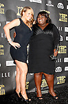 US actress/singer Mariah Carey and Gabourey Sidibe pose in the press room at the 25th Independent Spirit Awards held at the Nokia Theater in Los Angeles on March 5, 2010. The Independent Spirit Awards is a celebration honoring films made by filmmakers who embody independence and originality..Photo by Nina Prommer/Milestone Photo