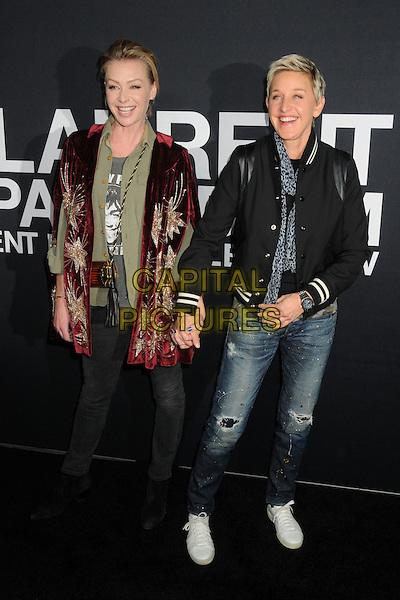 10 February 2016 - Los Angeles, California - Portia de Rossi, Ellen DeGeneres. Saint Laurent At The Palladium held at the Hollywood Palladium. <br /> CAP/ADM/BP<br /> &copy;BP/ADM/Capital Pictures