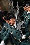 Spainsh soldiers of the Civil Guard during a military parade marking the Armed Forces Day on June 2, 2012 in Valladolid.(ALTERPHOTOS/Acero)