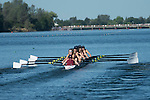 May 18, 2013; Gold River, CA, USA; Loyola Marymount Lions II Eight during the WCC Rowing Championships at Sacramento State Aquatic Center.