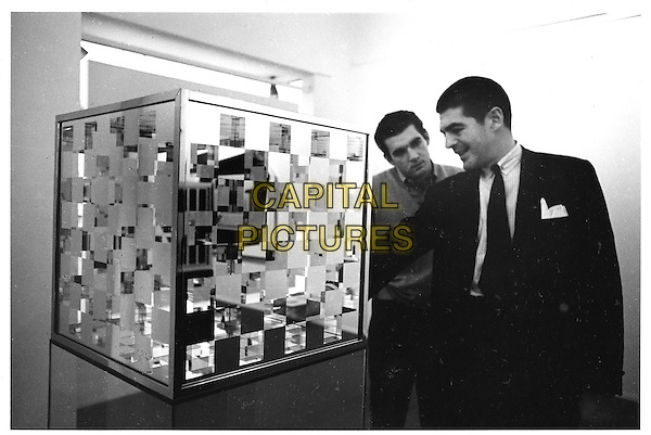 "SCENE - LARRY BELL & IRVING BLUM with ""Bette and the Giant Jewfish"" at Ferus Gallery, Los Angeles 1963.in  The Cool School .*Filmstill - Editorial Use Only*.CAP/PLF.Supplied by Capital Pictures."