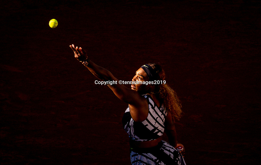 Paris, France, 1 june, 2019, Tennis, French Open, Roland Garros, Serena Williams (USA)<br /> Photo: Henk Koster/tennisimages.com