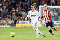 Real Madrid CF vs Athletic Club de Bilbao (5-1) at Santiago Bernabeu stadium. The picture shows Luka Modric and Iker Muniain. November 17, 2012. (ALTERPHOTOS/Caro Marin) NortePhoto