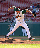 May 8, 2005:  Pitcher Matt Miller of the Buffalo Bisons during a game at Dunn Tire Park in Buffalo, NY.  Buffalo is the International League Triple-A affiliate of the Cleveland Indians.  Photo by:  Mike Janes/Four Seam Images