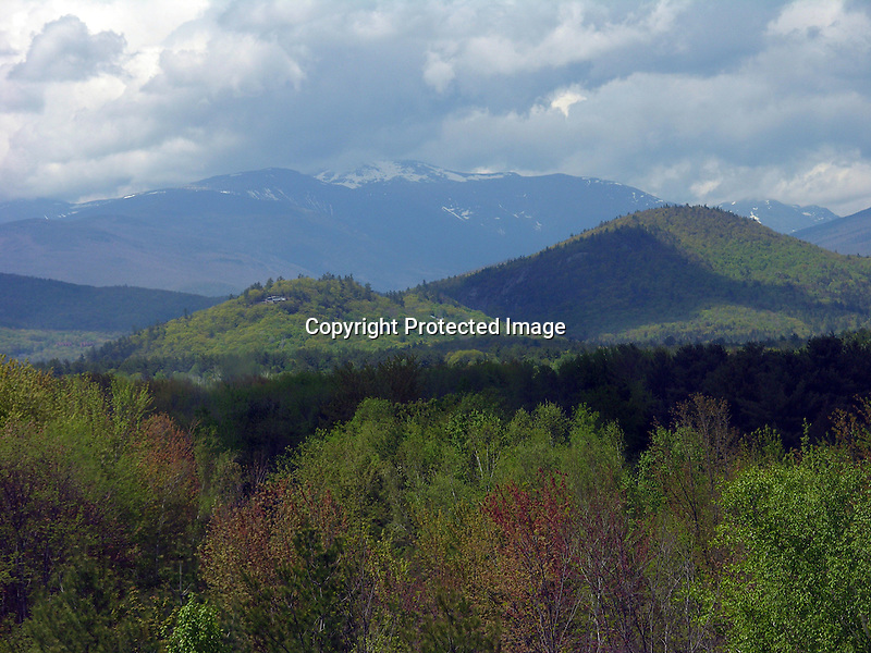 Presidential Range in Spring, New Hampshire