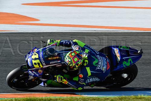 11th November 2017, Gran Premio Motul de la Comunitat Valenciana, Valencia, Spain; MotoGP of Valencia, Saturday qualifying; Valentino rossi (Movistar Yamaha) during the qualifying sessions