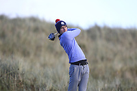 Michael Troy (Dungarvan) on the 11th tee during Round 3 of the Ulster Boys Championship at Portrush Golf Club, Portrush, Co. Antrim on the Valley course on Thursday 1st Nov 2018.<br /> Picture:  Thos Caffrey / www.golffile.ie<br /> <br /> All photo usage must carry mandatory copyright credit (&copy; Golffile | Thos Caffrey)