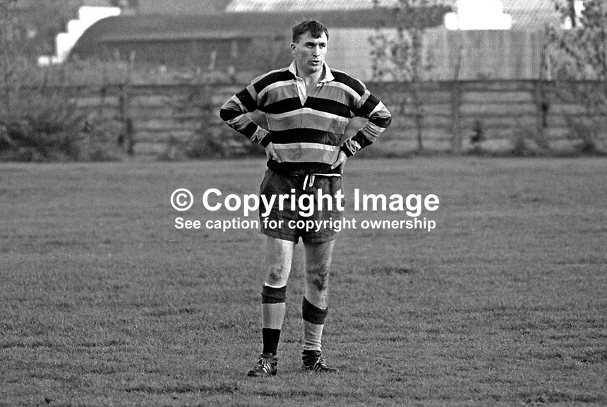 Ronnie Lamont, rugby player, Instonians RFC, Belfast, N Ireland, and Irish International, October, 1967, 196710140111<br />