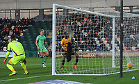 Newport County's Jamille Matt scores the opening goal <br /> <br /> Photographer Kevin Barnes/CameraSport<br /> <br /> The EFL Sky Bet League Two - Newport County v Colchester United - Saturday 17th November 2018 - Rodney Parade - Newport<br /> <br /> World Copyright © 2018 CameraSport. All rights reserved. 43 Linden Ave. Countesthorpe. Leicester. England. LE8 5PG - Tel: +44 (0) 116 277 4147 - admin@camerasport.com - www.camerasport.com