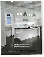 NKBA Southern Design Competition 2011 ad featuring Kingston Lacey in Calacatta Tia and Bardiglio.<br />