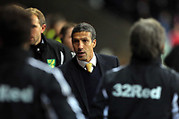 Saturday, 08 December 2012<br /> Pictured: Chris Hughton manager for Norwich<br /> Re: Barclays Premier League, Swansea City FC v Norwich City at the Liberty Stadium, south Wales.