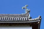 Japan, Shimane, Matsue Matsue Castle, Roof Ornament