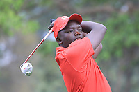 CJ Wangi (KEN) in action on 1st tee during the second round of the Magical Kenya Open presented by ABSA played at Karen Country Club, Nairobi, Kenya. 15/03/2019<br /> Picture: Golffile | Phil Inglis<br /> <br /> <br /> All photo usage must carry mandatory copyright credit (&copy; Golffile | Phil Inglis)