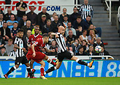 1st October 2017, St James Park, Newcastle upon Tyne, England; EPL Premier League football, Newcastle United versus Liverpool; Philippe Coutinho of Liverpool makes it 0-1 in the 29th minute