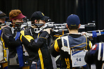 COLUMBUS, OH - MARCH 11:  Robert Broadstreet of Murray State, center, competes during the Division I Rifle Championships held at The French Field House on the Ohio State University campus on March 11, 2017 in Columbus, Ohio. (Photo by Jay LaPrete/NCAA Photos via Getty Images)